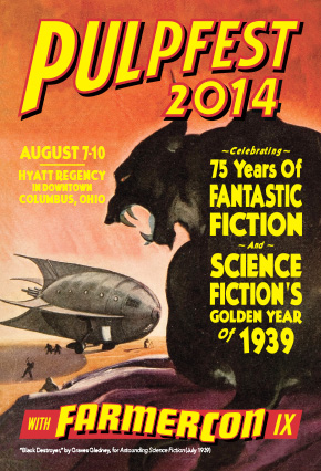 Promotional design: PulpFest 2014 postcard