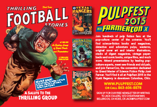 Promotional design: PulpFest 2015 postcard