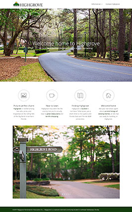 Website design: Highgrove Homeowners' Association